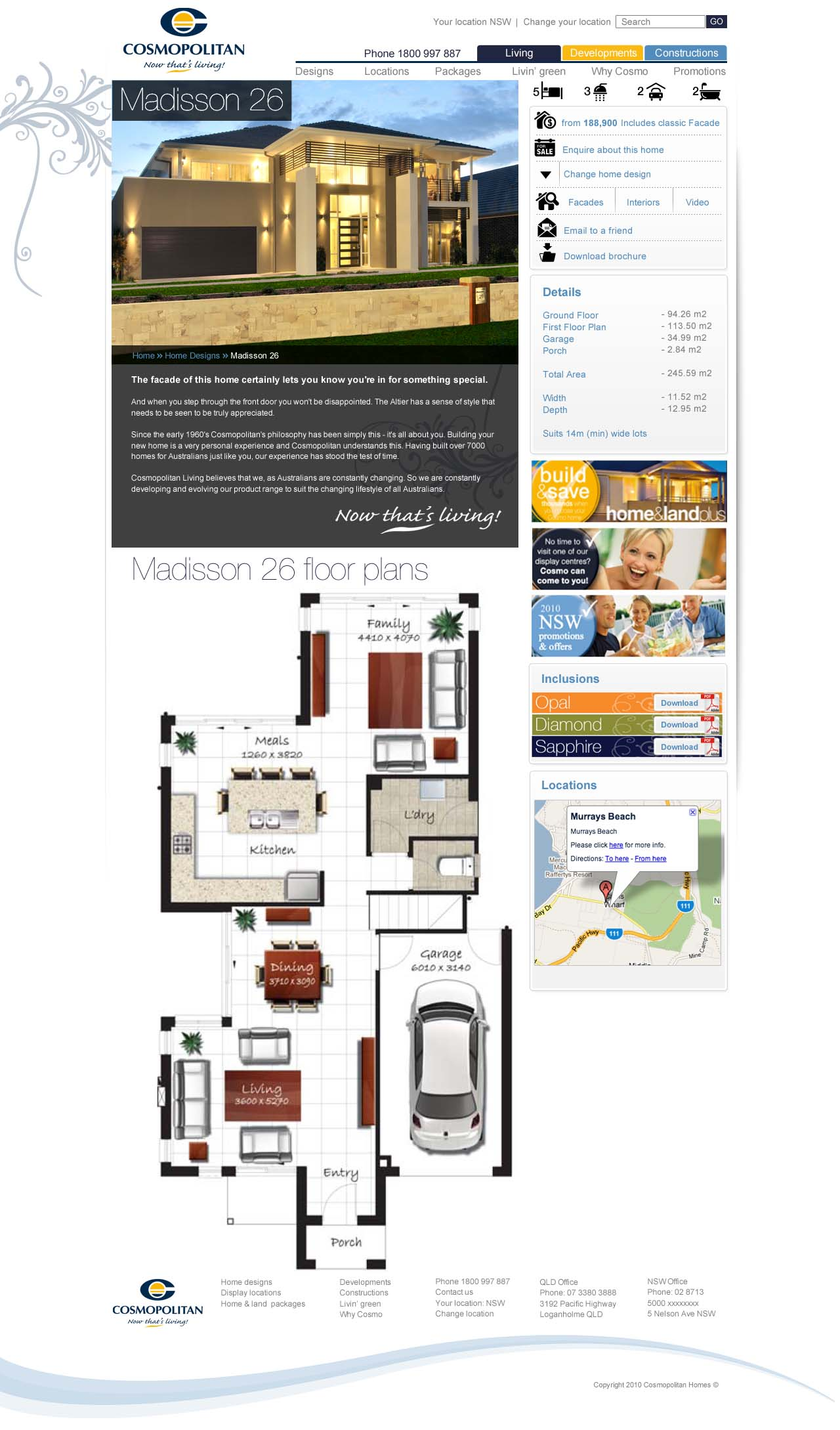 cosmopolitan builders ForCosmopolitan Home Designs
