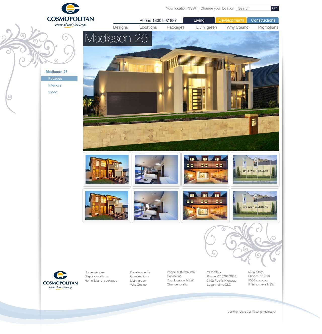 Cosmopolitan Home Design Detail · Cosmopolitan Facades Detail