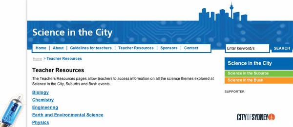 Science in the City - Teacher Resources