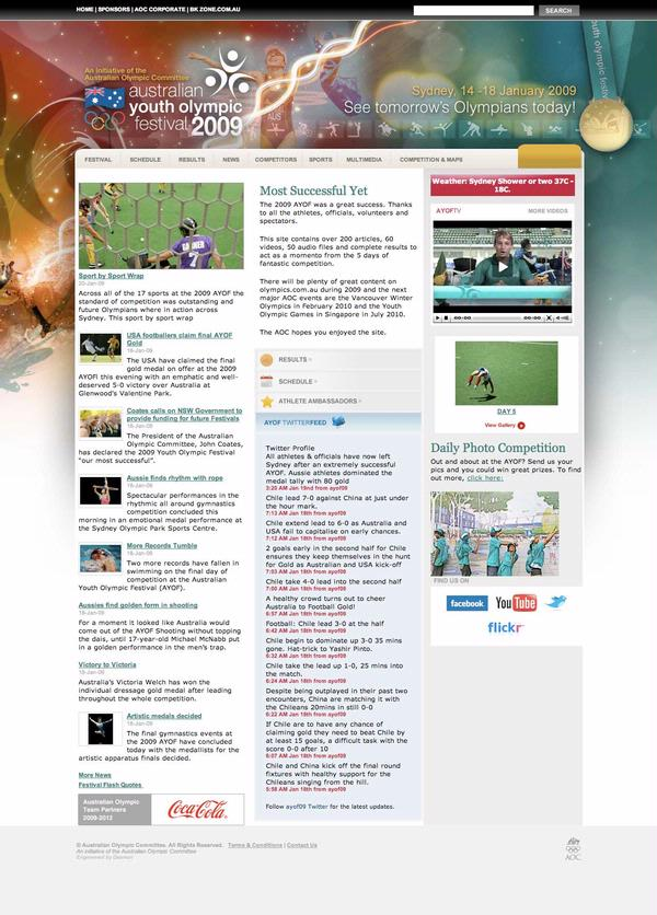 Australian Youth Olympic Festival 2009 - Home Page