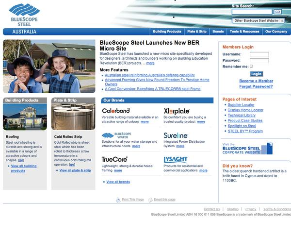 Bluescope Homepage