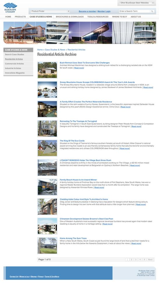 Lysaght Residential Articles