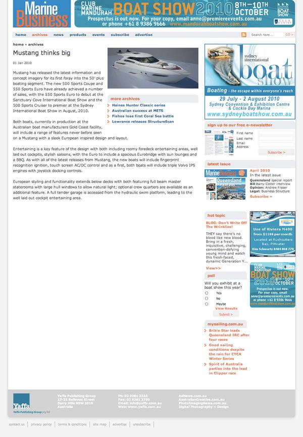 Marine Business News Item