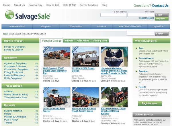 SalvageSale - Home Page