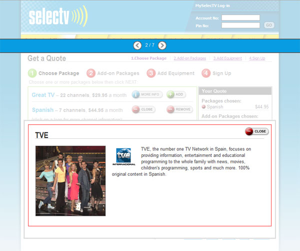 Selectv Subscription: Channel Information