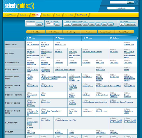 Selectv TV Guide: Overview
