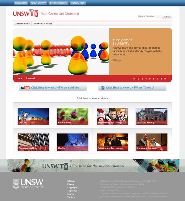 UNSW TV - Home Page