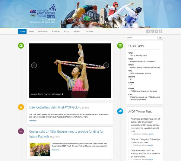 Australian Youth Olympic Games - Home