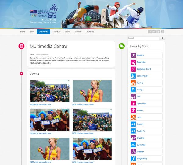 Australian Youth Olympic Games - Multimedia